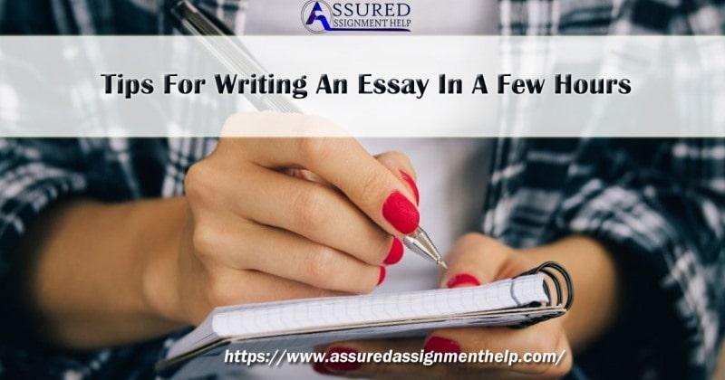 Custom essay written in a few hours