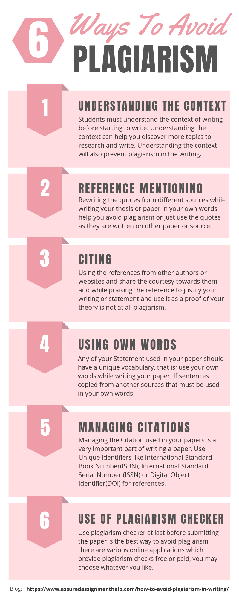 6 Ways To Avoid Plagiarism